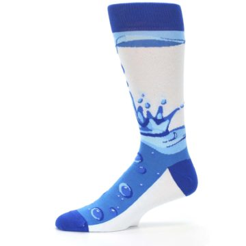 Image of Blue Water Droplet Men's Dress Socks (side-2-11)