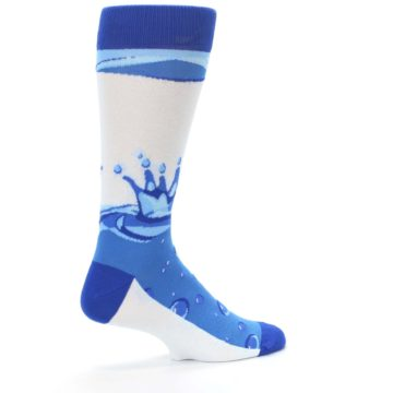 Image of Blue Water Droplet Men's Dress Socks (side-1-23)