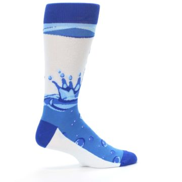 Image of Blue Water Droplet Men's Dress Socks (side-1-24)