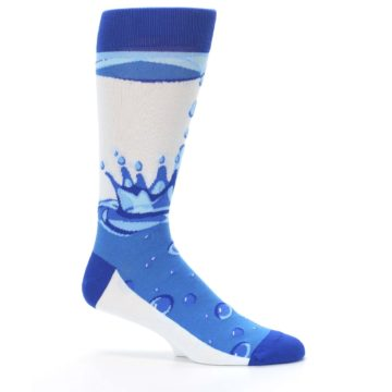 Image of Blue Water Droplet Men's Dress Socks (side-1-25)