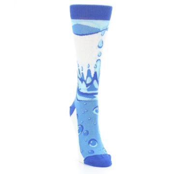 Image of Blue Water Droplet Women's Dress Socks (side-1-front-03)