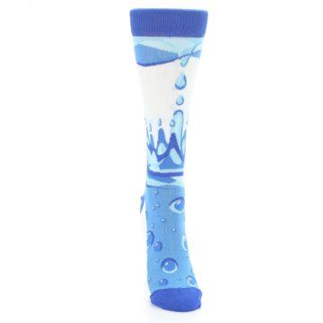 Image of Blue Water Droplet Women's Dress Socks (front-04)