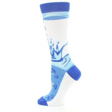 Image of Blue Water Droplet Women's Dress Socks (side-2-13)