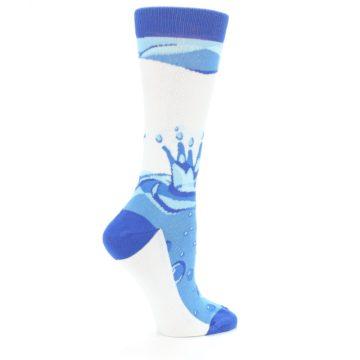 Image of Blue Water Droplet Women's Dress Socks (side-1-24)
