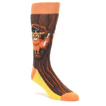 Knowledge Graduation Owl Dress Socks for Men by Statement Sockwear