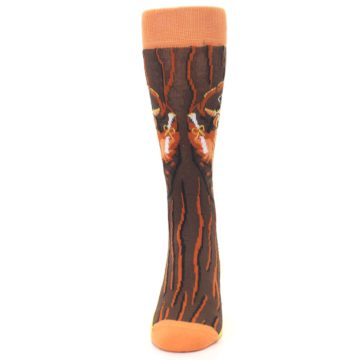 Image of Brown Kn-Owl-edge Men's Dress Socks (front-05)