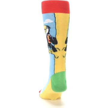 Image of Blue Two-Can Toucan Bird Men's Dress Socks (back-17)