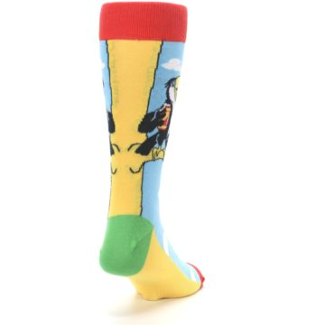 Image of Blue Two-Can Toucan Bird Men's Dress Socks (side-1-back-20)
