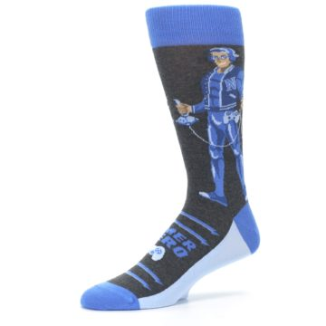 Image of Blue Video Game Hero Men's Dress Socks (side-2-10)