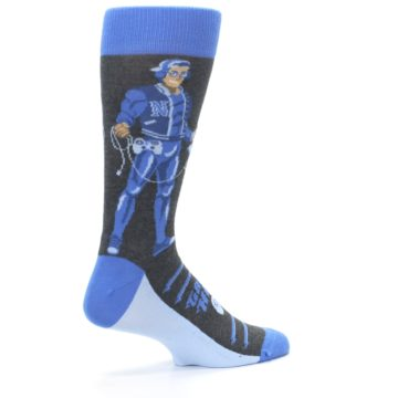 Image of Blue Video Game Hero Men's Dress Socks (side-1-23)