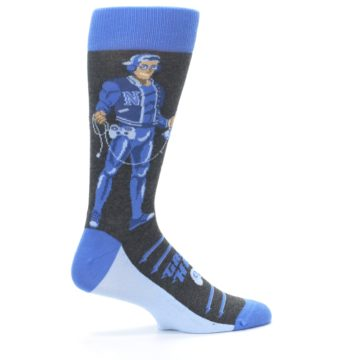 Image of Blue Video Game Hero Men's Dress Socks (side-1-24)