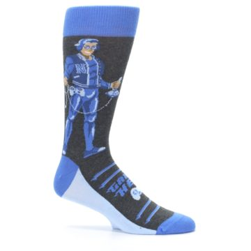 Image of Blue Video Game Hero Men's Dress Socks (side-1-25)