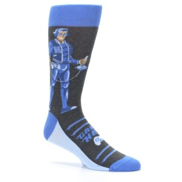 Image of Blue Video Game Hero Men's Dress Socks (side-1-26)