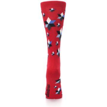 Image of Red Black Blue Stars Women's Dress Socks (back-19)