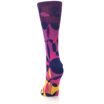 Image of Purple Gold Teal Overlapping Circles Women's Dress Socks (back-17)