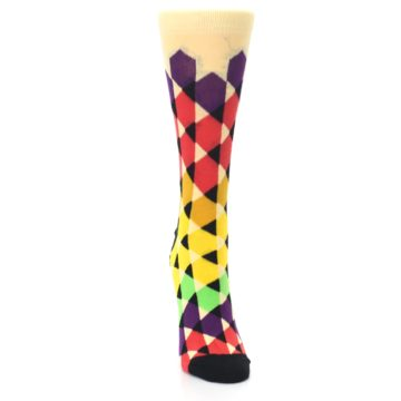 Image of Multi-Color Triangles Women's Dress Socks (front-04)
