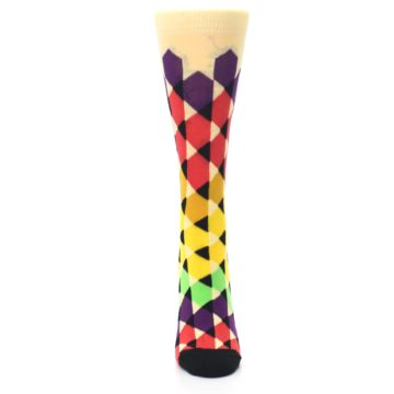 Image of Multi-Color Triangles Women's Dress Socks (front-05)