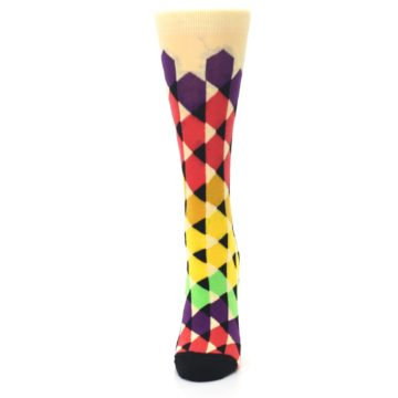 Image of Multi-Color Triangles Women's Dress Socks (side-2-front-06)