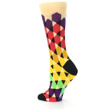 Image of Multi-Color Triangles Women's Dress Socks (side-2-back-14)