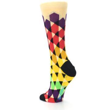 Image of Multi-Color Triangles Women's Dress Socks (side-2-back-15)
