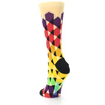 Image of Multi-Color Triangles Women's Dress Socks (side-2-back-16)