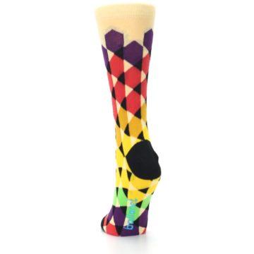 Image of Multi-Color Triangles Women's Dress Socks (back-17)