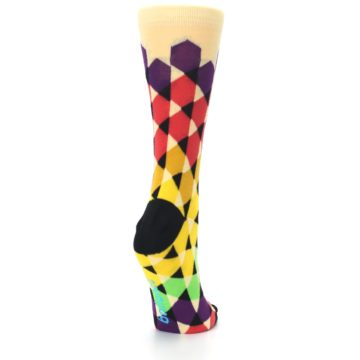 Image of Multi-Color Triangles Women's Dress Socks (side-1-back-21)