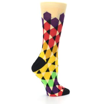 Image of Multi-Color Triangles Women's Dress Socks (side-1-24)