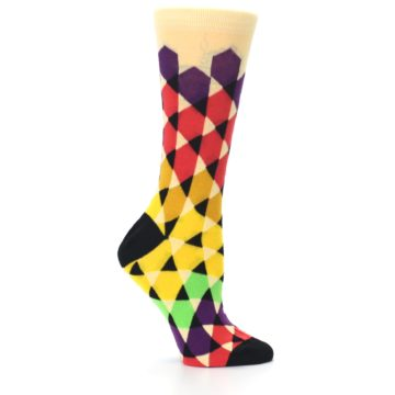 Image of Multi-Color Triangles Women's Dress Socks (side-1-25)