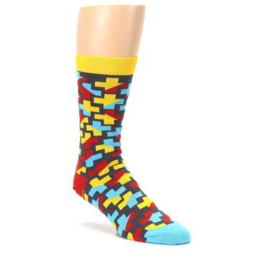 Yellow-Gray-Red-Blue-Plus-Mens-Dress-Socks-Ballonet-Socks