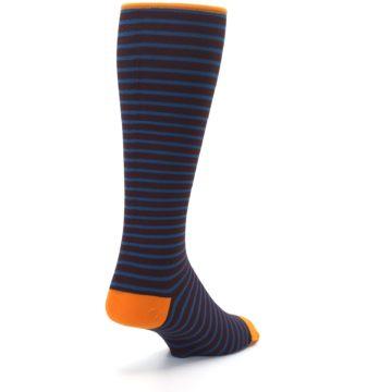 Image of Brown Teal Stripe Men's Compression Dress Socks (side-1-back-21)