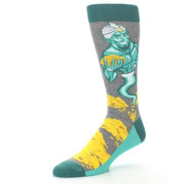 Image of Green Gray Genie Men's Dress Socks (side-2-09)