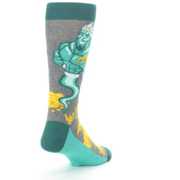Image of Green Gray Genie Men's Dress Socks (side-1-back-21)