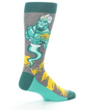 Image of Green Gray Genie Men's Dress Socks (side-1-23)