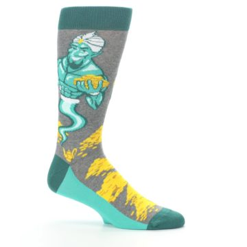 Image of Green Gray Genie Men's Dress Socks (side-1-25)