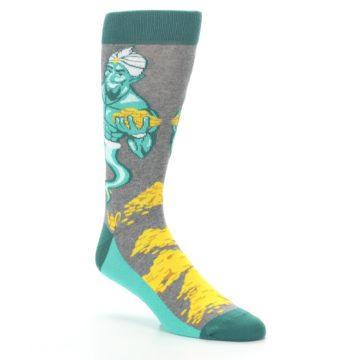 Image of Green Gray Genie Men's Dress Socks (side-1-27)