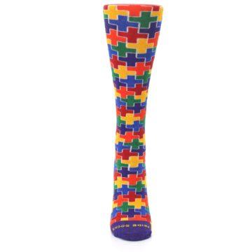 Image of Multicolor Rainbow Plus Women's Crew Socks (front-05)