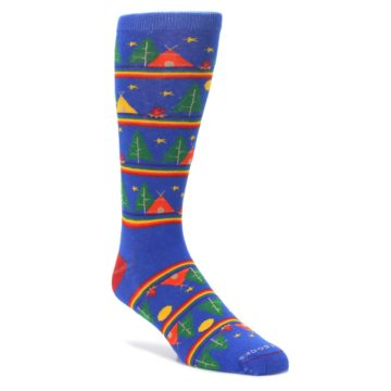 Blue-Green-Yellow-Camping-Mens-Crew-Socks-Pride-Socks