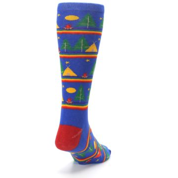 Image of Blue Green Yellow Camping Men's Crew Socks (side-1-back-20)