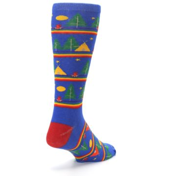 Image of Blue Green Yellow Camping Men's Crew Socks (side-1-back-21)