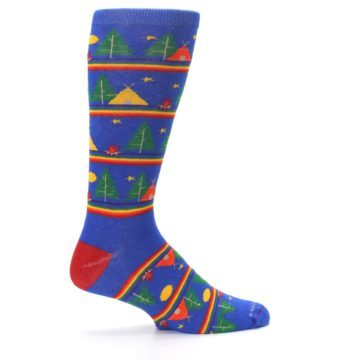 Image of Blue Green Yellow Camping Men's Crew Socks (side-1-24)