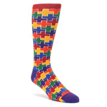 Multicolor-Rainbow-Plus-Mens-Crew-Socks-Pride-Socks