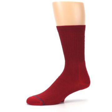 Image of Red Solid Darth Vader Star Wars Men's Casual Socks (side-2-10)