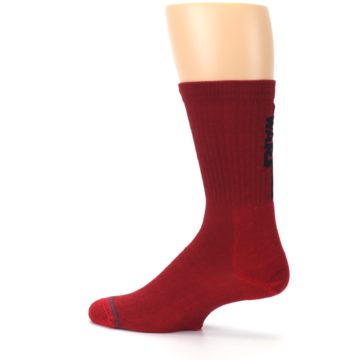 Image of Red Solid Darth Vader Star Wars Men's Casual Socks (side-2-13)