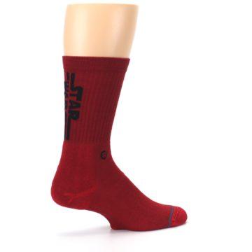 Image of Red Solid Darth Vader Star Wars Men's Casual Socks (side-1-23)