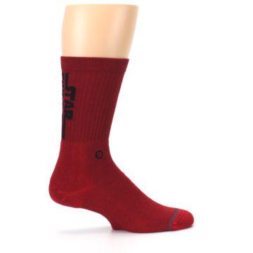 Image of Red Solid Darth Vader Star Wars Men's Casual Socks (side-1-24)