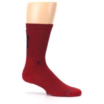 Image of Red Solid Darth Vader Star Wars Men's Casual Socks (side-1-25)