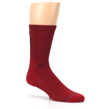 Image of Red Solid Darth Vader Star Wars Men's Casual Socks (side-1-26)