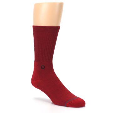 Image of Red Solid Darth Vader Star Wars Men's Casual Socks (side-1-27)