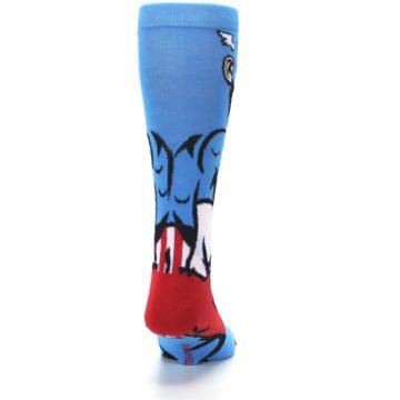 Image of Blue Red Captain America 360 Men's Casual Socks (back-19)